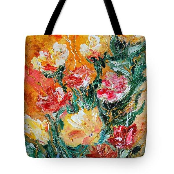 Bouquet Tote Bag by Teresa Wegrzyn