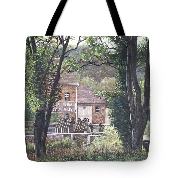 Bournemouth Throop Mill Through Trees Tote Bag by Martin Davey