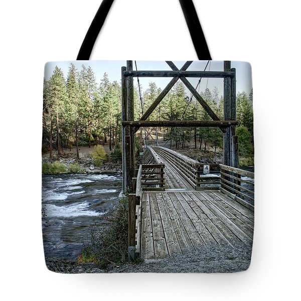 Bowl And Pitcher Bridge - Spokane Washington Tote Bag by Daniel Hagerman