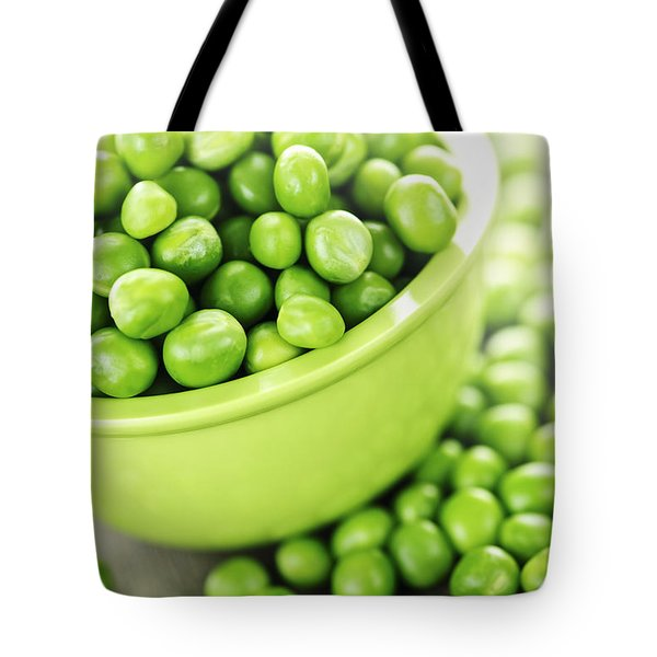 Bowl of green peas Tote Bag by Elena Elisseeva