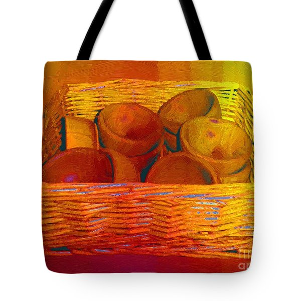 Bowls In Basket Moderne Tote Bag by RC deWinter