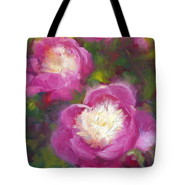 Bowls Of Beauty - Alaskan Peonies Tote Bag by Talya Johnson