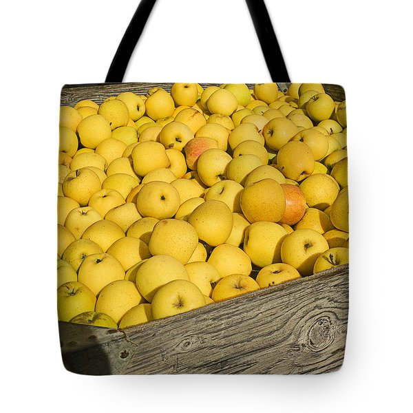 Box of golden apples Tote Bag by Garry Gay