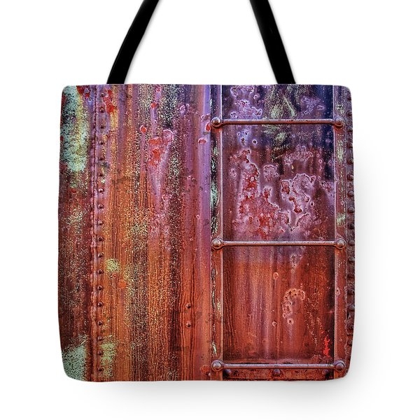 Boxcar Ladder Tote Bag by Marcia Colelli