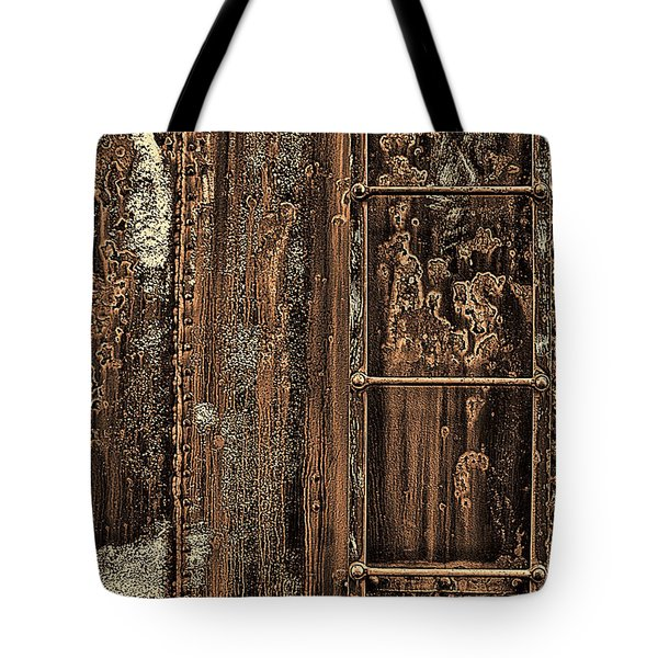 Boxcar's Ladder   Tote Bag by Marcia Colelli