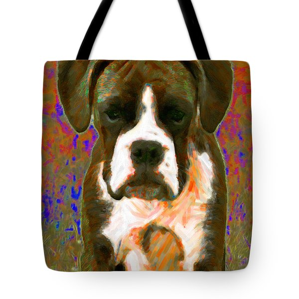 Boxer 20130126v1 Tote Bag by Wingsdomain Art and Photography
