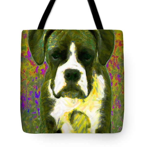 Boxer 20130126v2 Tote Bag by Wingsdomain Art and Photography