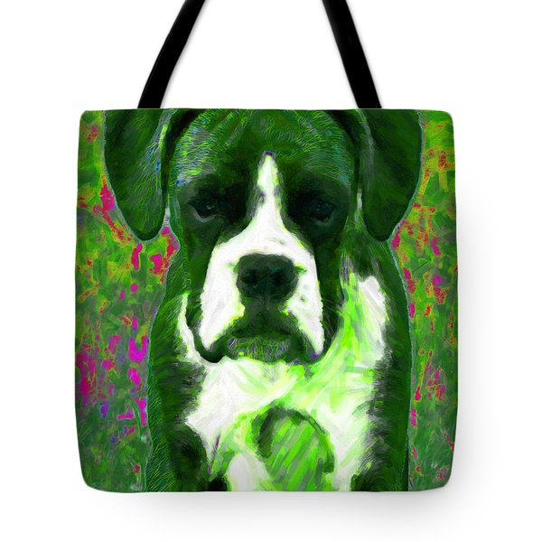 Boxer 20130126v3 Tote Bag by Wingsdomain Art and Photography