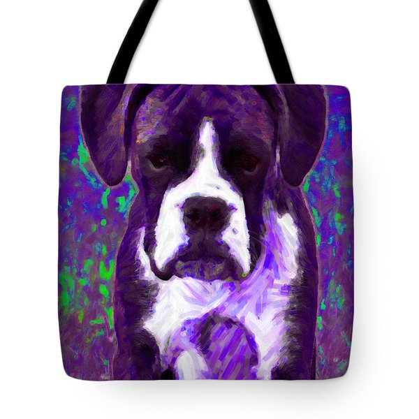 Boxer 20130126v6 Tote Bag by Wingsdomain Art and Photography