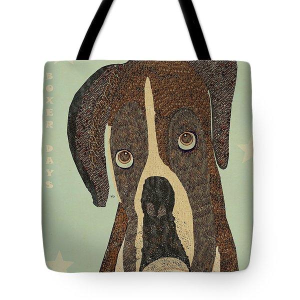 boxer days Tote Bag by Bri Buckley