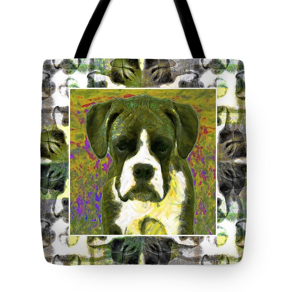 Boxer Dog 20130126 Tote Bag by Wingsdomain Art and Photography