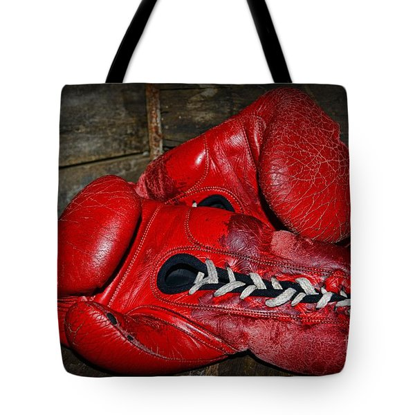 Boxing Gloves Tote Bag by Paul Ward