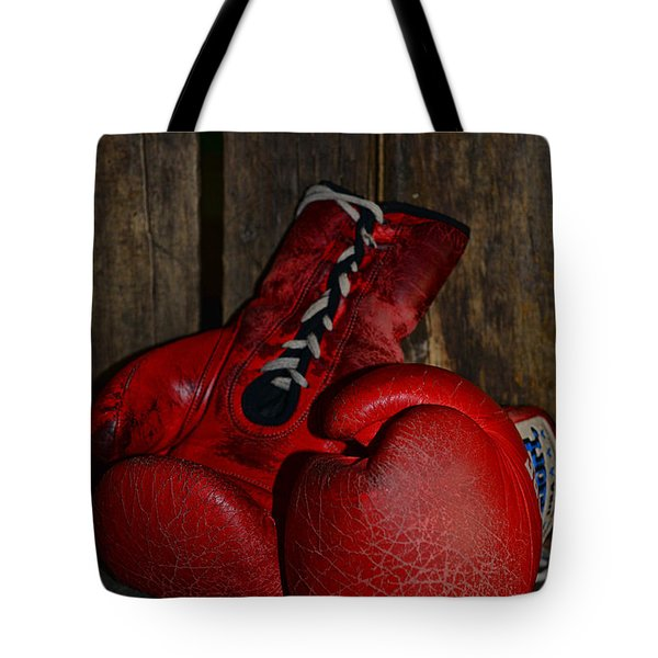 Boxing Gloves Worn Out Tote Bag by Paul Ward