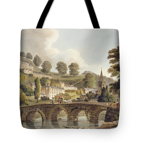 Bradford, From Bath Illustrated Tote Bag by John Claude Nattes