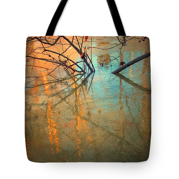 Branches And Ice Tote Bag by Tara Turner