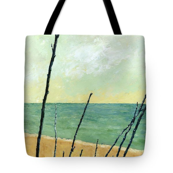 Branches On The Beach - Oil Tote Bag by Michelle Calkins