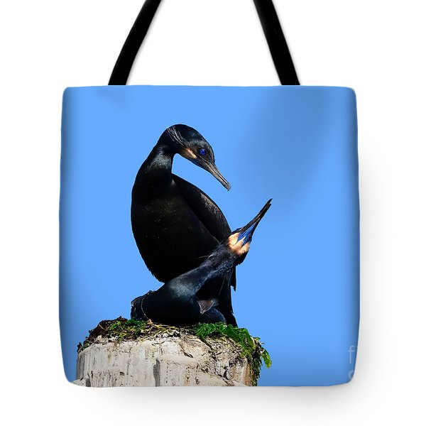 Brandt's Cormorants In Love No. 1  Tote Bag by Susan Wiedmann