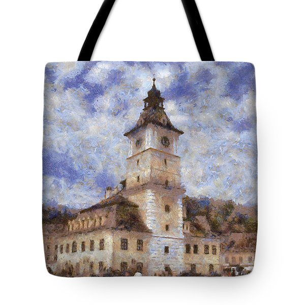 Brasov City Hall Tote Bag by Jeff Kolker