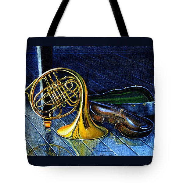 Brass And Strings Tote Bag by Hanne Lore Koehler