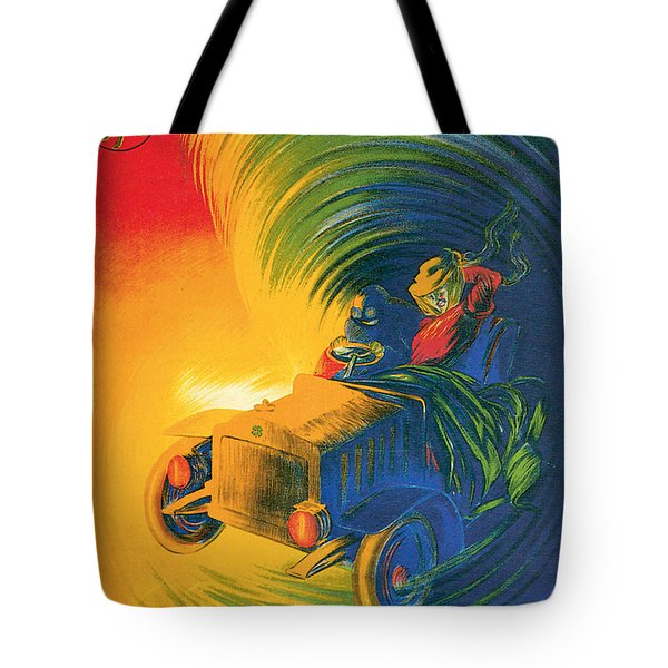 Brassier Automobile - Vintage Poster Tote Bag by World Art Prints And Designs