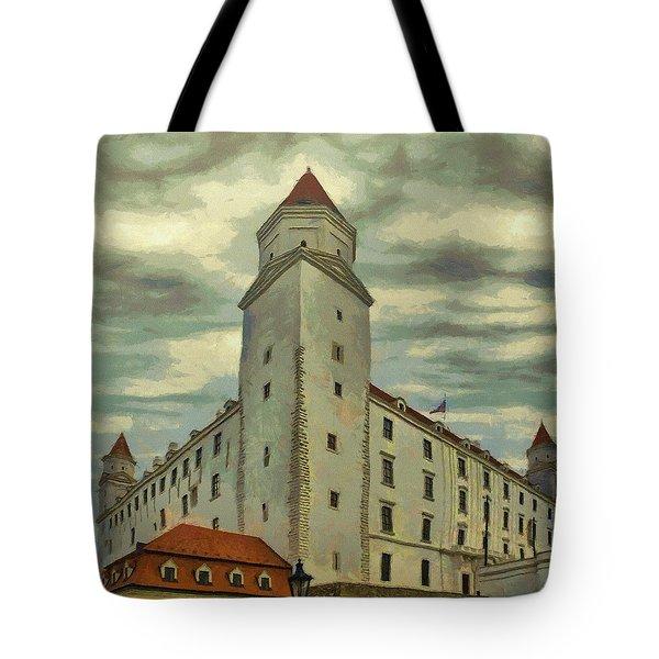 Bratislava Castle Tote Bag by Jeff Kolker
