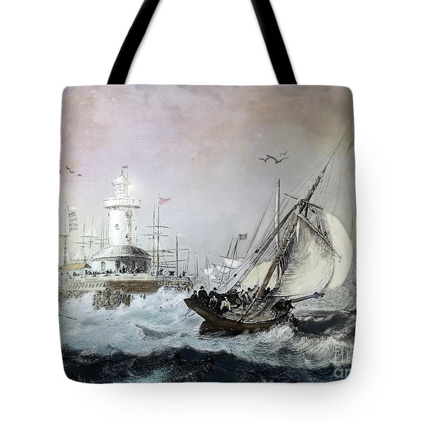 Braving The Storm Tote Bag by Lianne Schneider