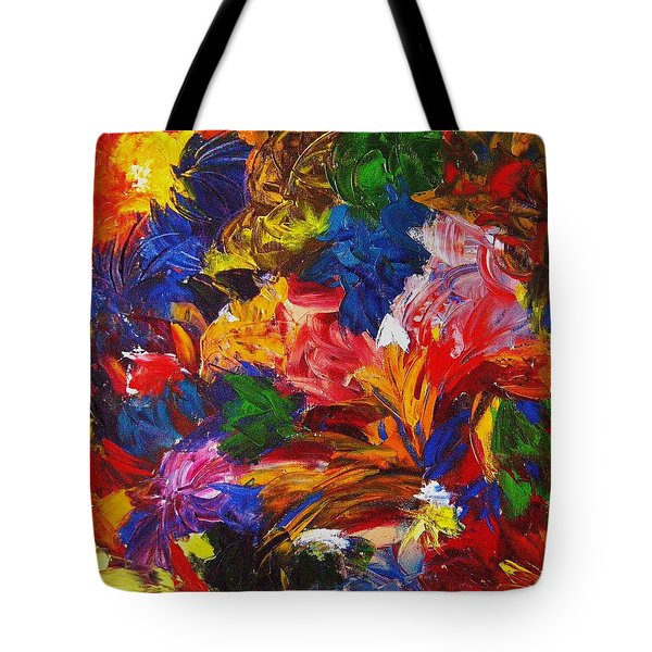 Brazilian Carnival Tote Bag by Monique Wegmueller