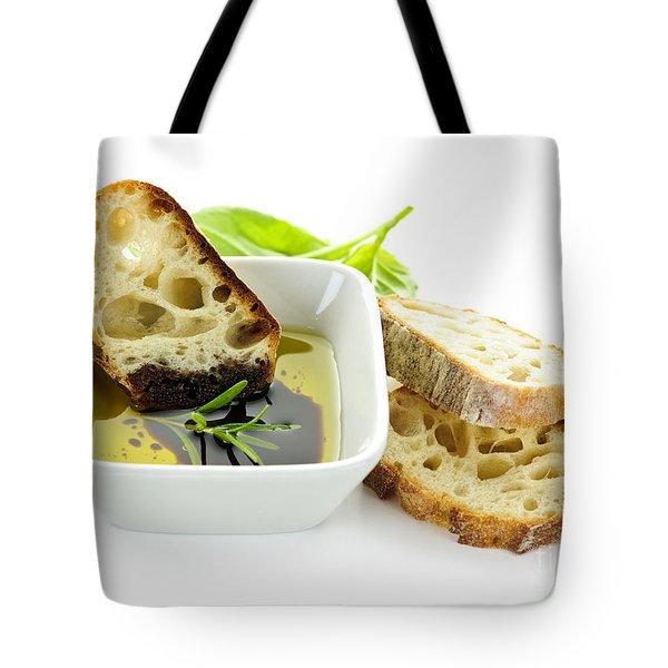 Bread olive oil and vinegar Tote Bag by Elena Elisseeva