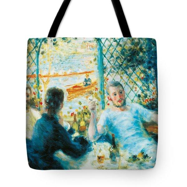 Breakfast By The River Tote Bag by Pierre-Auguste Renoir