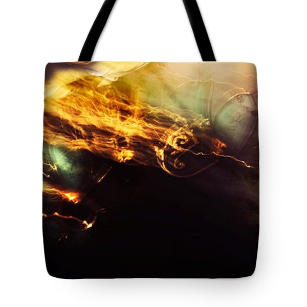 Breakthrough. Empowered by Light Tote Bag by Jenny Rainbow