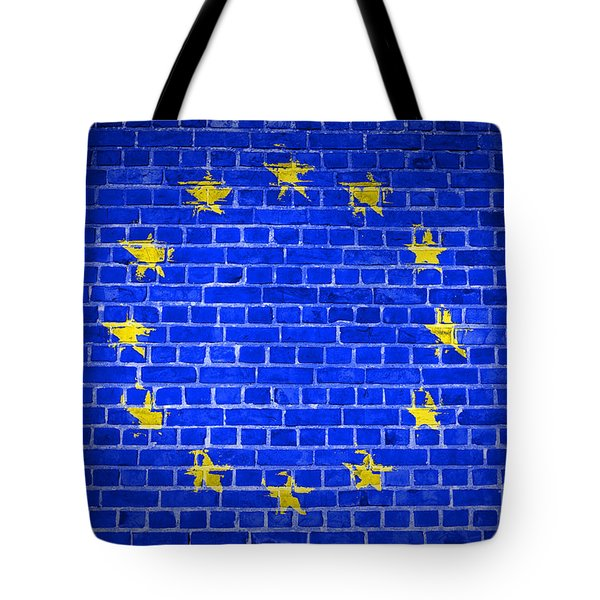 Brick Wall European Union Tote Bag by Antony McAulay