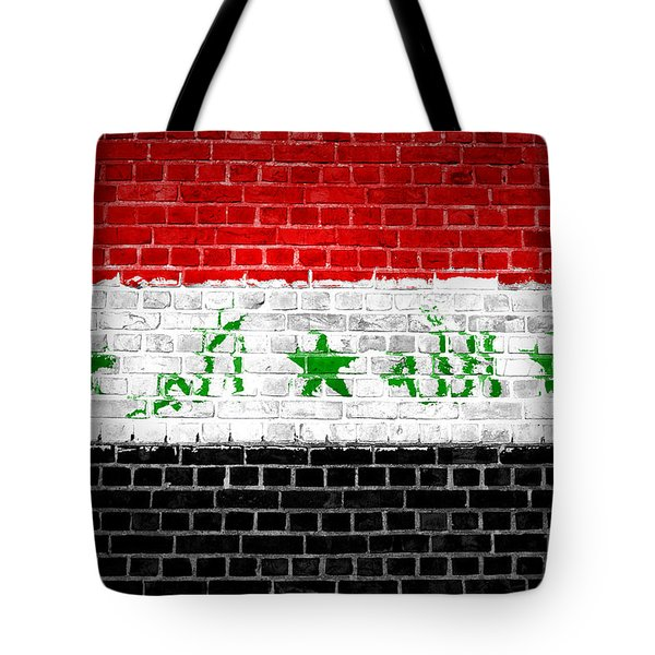 Brick Wall Iraq Tote Bag by Antony McAulay