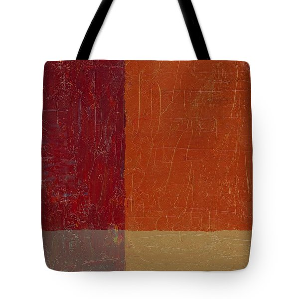 Bricks And Reds Tote Bag by Michelle Calkins