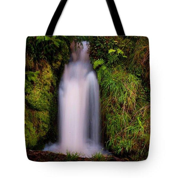Bridal Dress. Waterfall At Benmore Botanical Garden. Nature Of Scotland Tote Bag by Jenny Rainbow