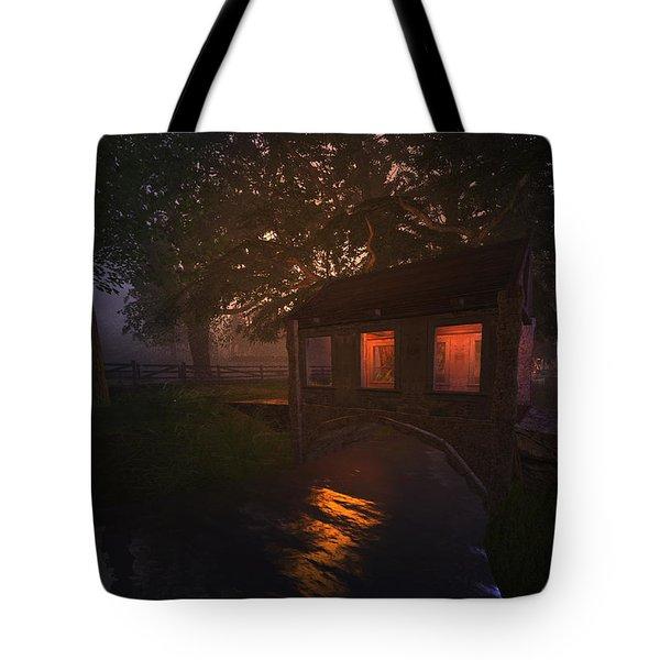 Brideshead Creek Bridge Tote Bag by Kylie Sabra