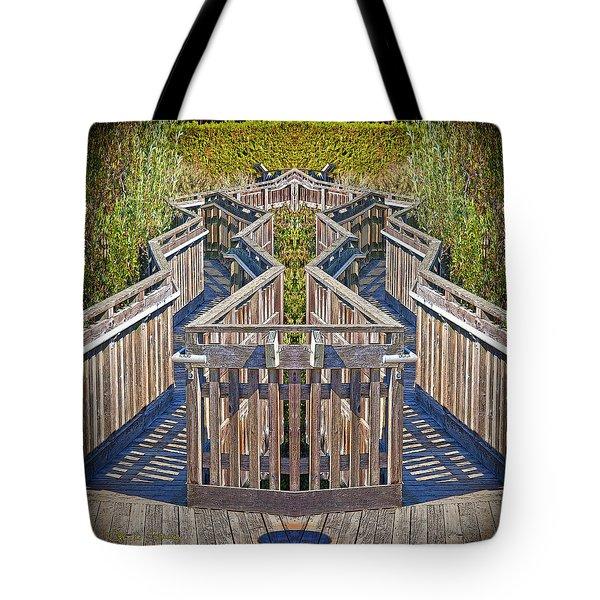 Bridge To Beyond Tote Bag by Chuck Staley