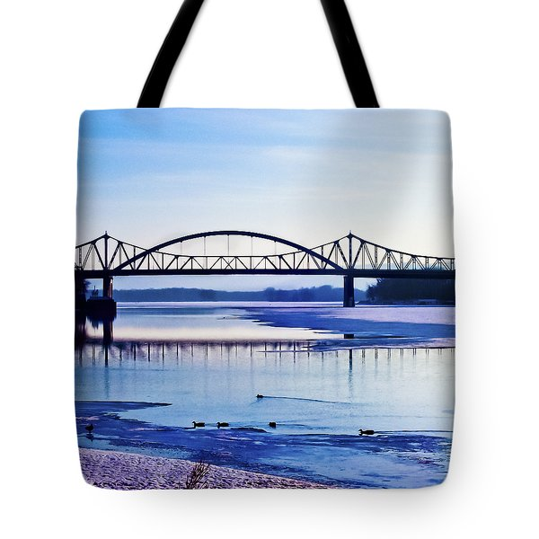 Bridges over the Mississippi Tote Bag by Christi Kraft