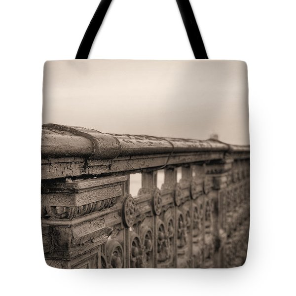 Bridging the Charles BW Tote Bag by JC Findley
