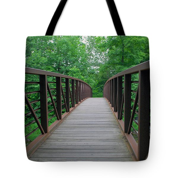 Bridging The Gap Tote Bag by Lisa  Phillips