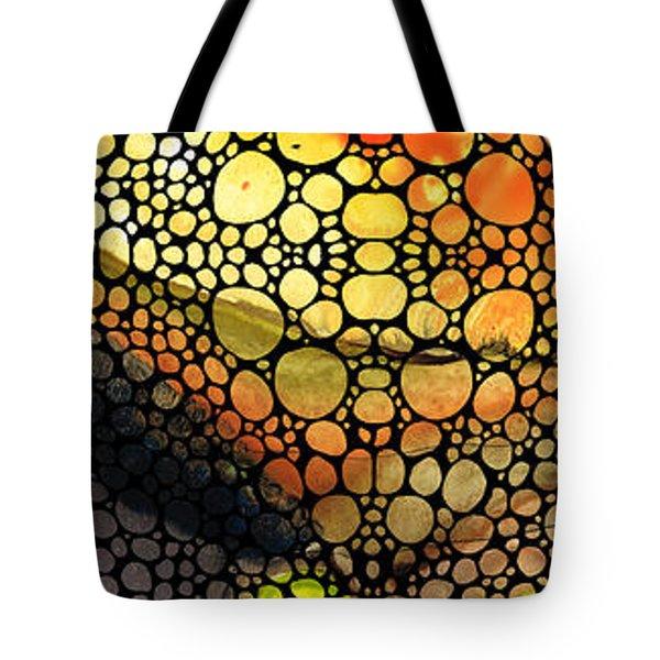 Bridging The Gap - Stone Rock'd Art Print Tote Bag by Sharon Cummings