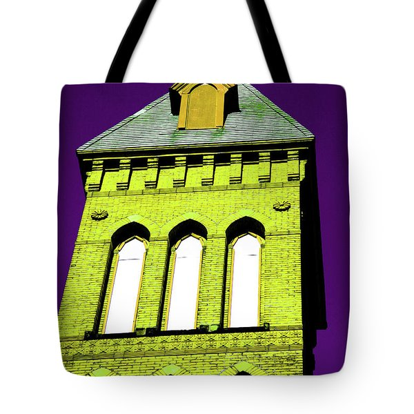 Bright Cross Tower Tote Bag by Karol  Livote