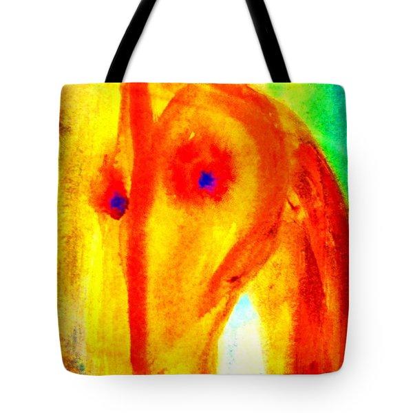 Bright eyes burning   Tote Bag by Hilde Widerberg