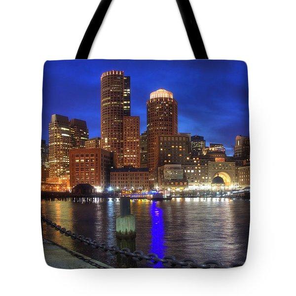 Bright Lights Boston Tote Bag by Joann Vitali