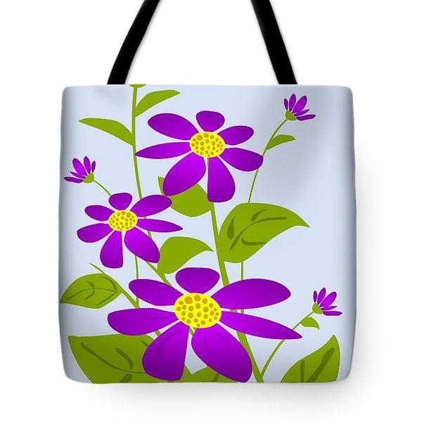 Bright Purple Tote Bag by Anastasiya Malakhova