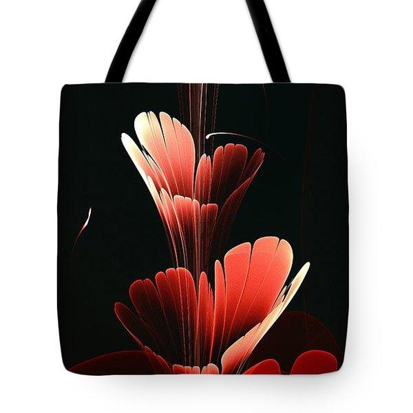 Bright Red Tote Bag by Anastasiya Malakhova