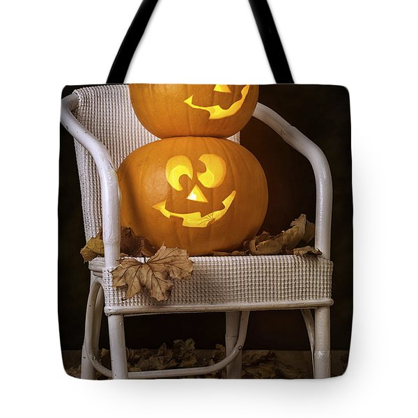 Brightly Lit Jack O Lanterns Tote Bag by Amanda And Christopher Elwell