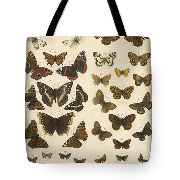 British Butterflies Tote Bag by English School