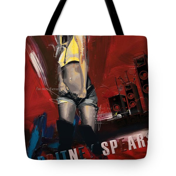 Britney Spears Tote Bag by Corporate Art Task Force