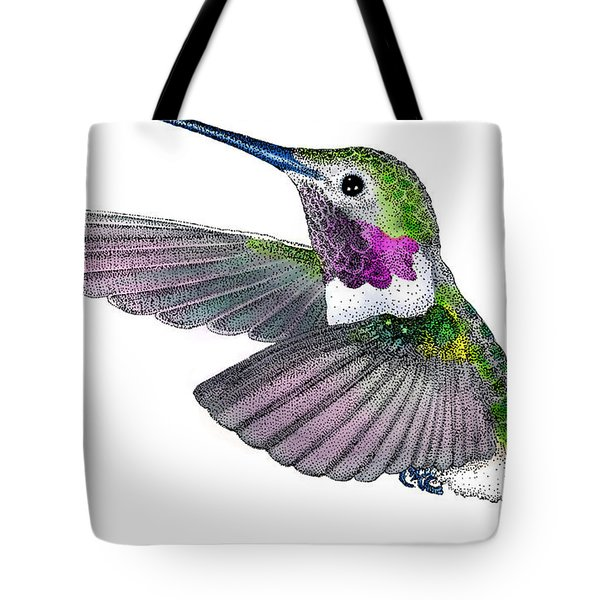 Broad-tailed Hummingbird Tote Bag by Roger Hall