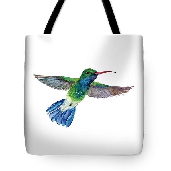 Broadbilled Fan Tail Hummingbird Tote Bag by Amy Kirkpatrick
